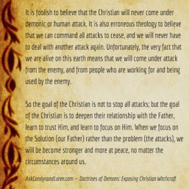 Doctrines of Demons: Exposing Christian Witchcraft, Section Four, Chapter IV: Backlash, How to Deal With These Attacks